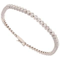 2.70 Carat Round Brilliant Cut Diamond Platinum Bracelet