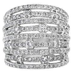 2.71 Carat Nine-Row Diamond Fashion Band Ring