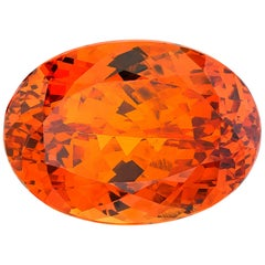 27.25 ct. Orange Spessartine Garnet, GIA, Loose Pendant, Enhancer Collector Gem