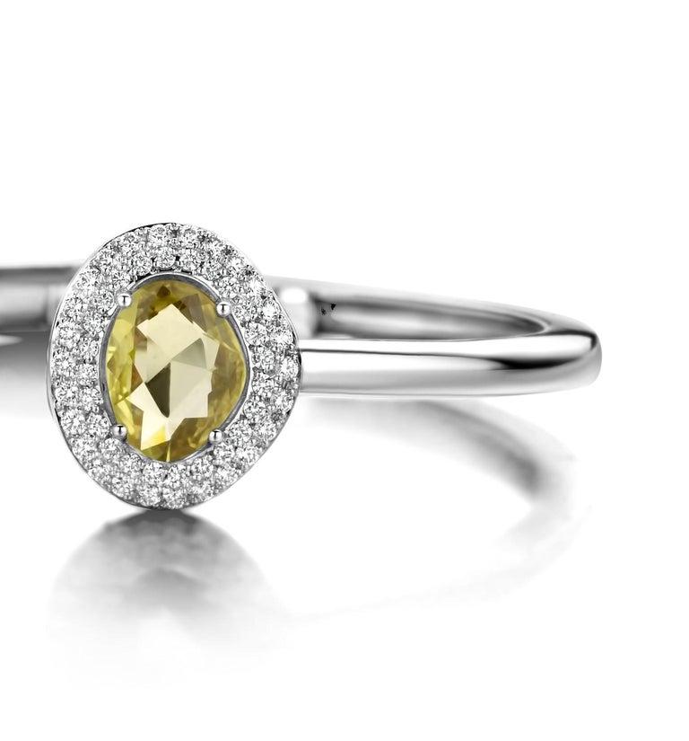 Modern 2.73 Carat Pink and Yellow Sapphire 18 Karat Two-Stone Diamond Bangle For Sale