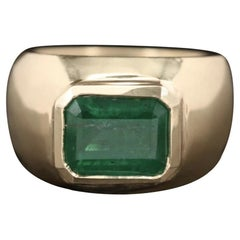 2.75 Ct. Emerald Dome Ring