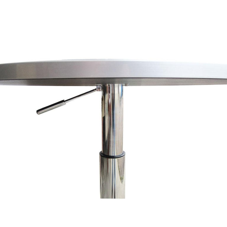 27.5 Ligne Roset Bobine Height Adjustable Table by Michael Köenig In Good Condition For Sale In Pasadena, TX