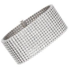 27.50 Carat, 12-Row Diamond Tennis Bracelet