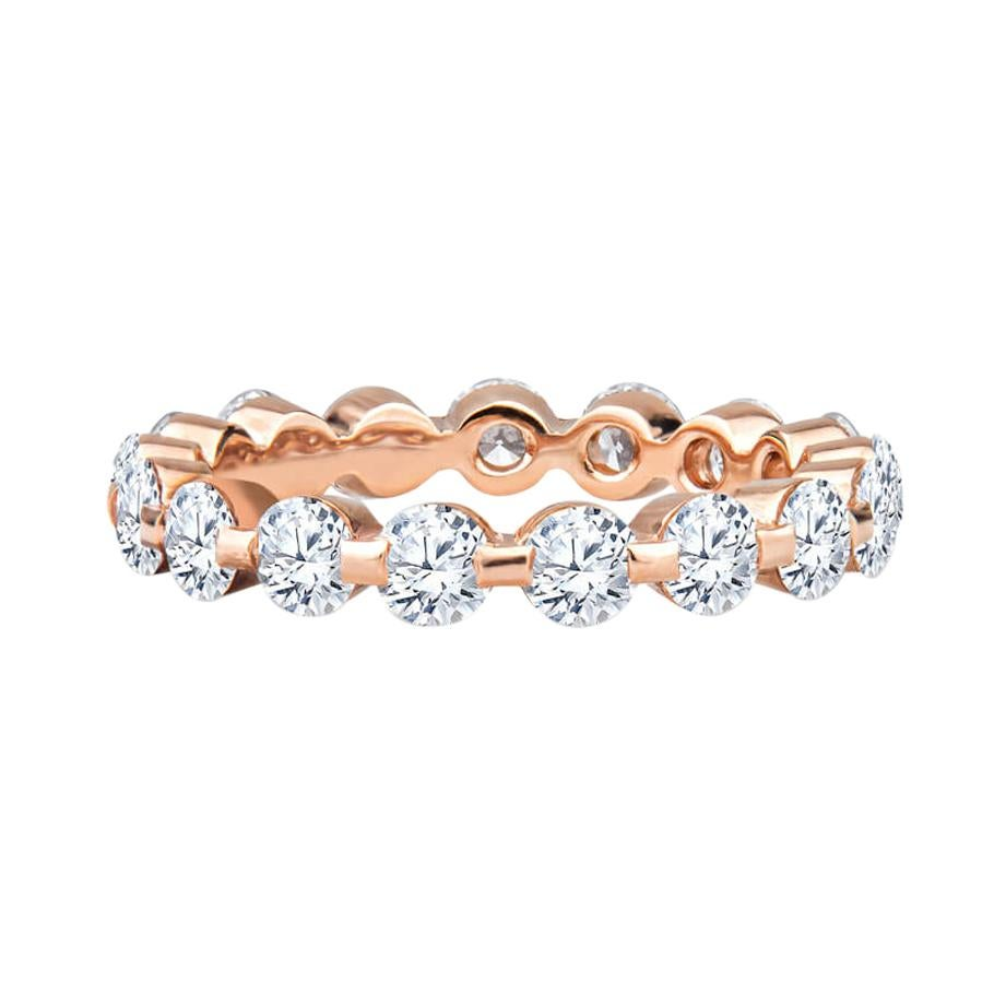 2.75ctw Round Diamond Eternity Band in 18kt Rose Gold