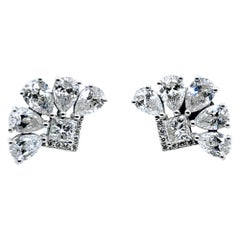 2.76 Carat 18 Karat Designer Diamond Earrings