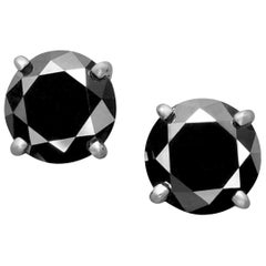 2.76 Carat Black Diamond Studs for Ballerina Interchangeable Earrings