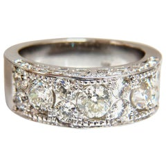 2.76 Carat Victorian Deco Beaded Natural Diamonds Ring 14 Karat