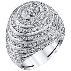 2.77 Carat Diamond 18k White Gold Ring