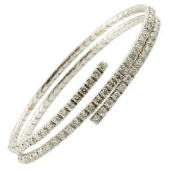 2.77 Carat Diamonds, 18 Karat White Gold Bracelet