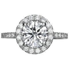 2.78 Carat Round Cut Diamond Engagement Ring