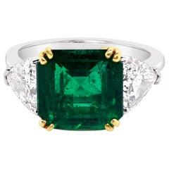 2.79 Carat Emerald and Diamond Ring in Platinum