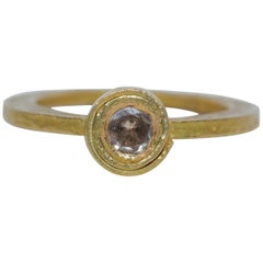 .28Ct Diamond Recycled 22Karat Gold Alternative Engagement Bridal Stackable Ring
