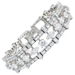 28 Carat Multi-Shaped Diamond and Platinum Bracelet by Van Cleef & Arpels