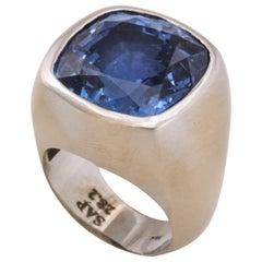 28 Carat Natural Sapphire Men's Ring