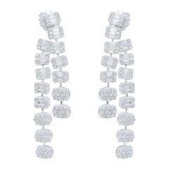 2.80 Carat Diamond 18 Karat Gold Linear Earrings