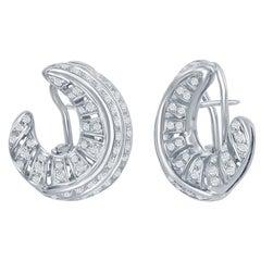 2.80 Carat Diamond Italian Earrings White Gold