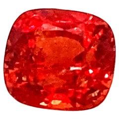 2.81 Carat Cushion Cut Unheated Red Burmese Spinel
