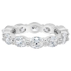 2.82 Carat Oval Cut Diamond East-West Eternity Wedding Band