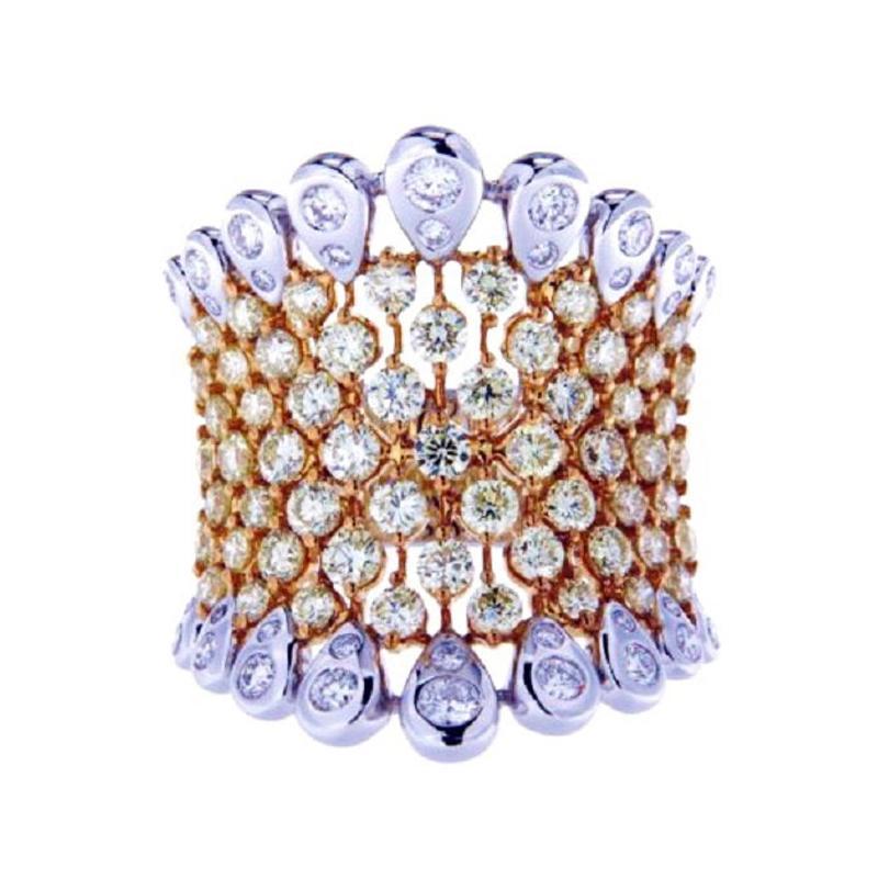 2.84 Ct Diamonds 18kt White Gold Fine Band Ring