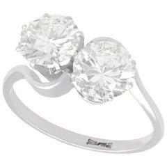 2.85 Carat Diamond and Platinum Twist Ring, Vintage, circa 1940