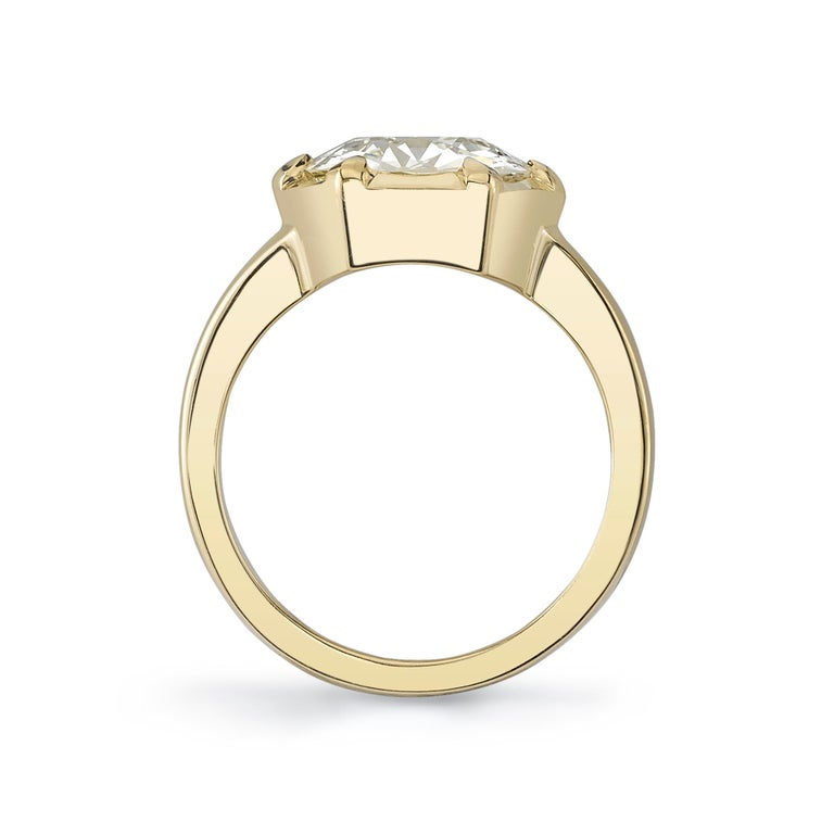 2.85 Carat Old European Cut Diamond Set in an 18 Karat Yellow Gold Ring In New Condition For Sale In Los Angeles, CA