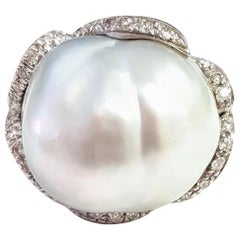 28.50 Carat Australian South Sea Pearl Cocktail Ring