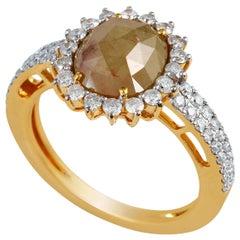 2.86 Carat Fancy Diamond 18 Karat Gold Ring