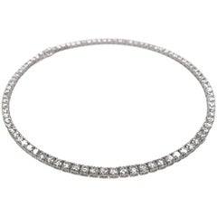 28.77 Carat 18 Karat Graduated Diamond Eternity Necklace