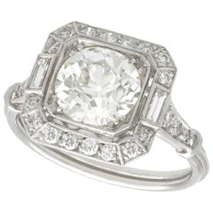 2.89 Carat Diamond Platinum Engagement Ring