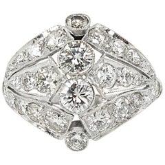 2.89 Carat Round Diamond Anniversary Wedding Platinum Ring EGL, USA