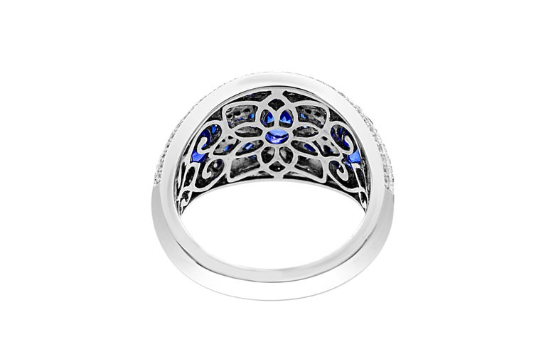 2 89 Carat Baguette And Marquise Blue Sapphire 0 48 Carat