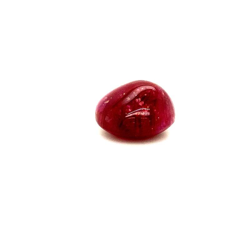 29 Carat Unheated Burmese Ruby Cabochon For Sale 1