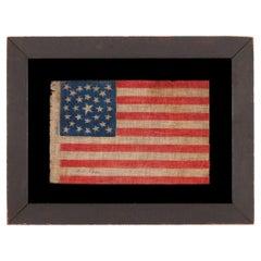29 Star Antique Flag, Double-Wreath Style Medallion, Iowa Statehood, ca 1846-'48