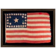 29 Star Antique American Flag, Iowa Statehood, Extraordinarily Rare