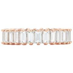 2.92 Carat Diamond Baguette Eternity Wedding Band in 14 Karat Gold