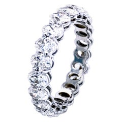 2.92 Carat Oval Brilliant Diamond Eternity Ring