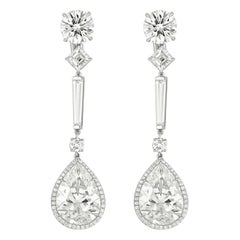 29.28 Carat GIA Certified Pear Shape Diamond Earrings