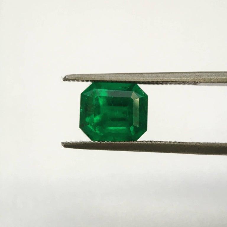 Artisan 2.93 Carat Emerald Cut, Certified Natural Muzo Colombian Emerald For Sale