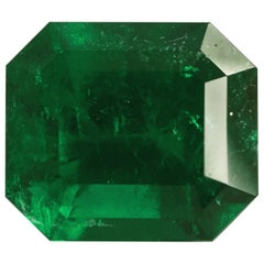 2.93 Carat Emerald Cut, Certified Natural Muzo Colombian Emerald