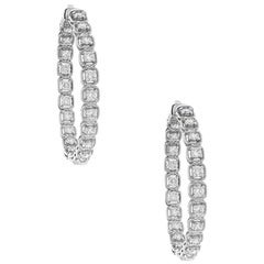 2.94 Carat Diamond Hoop Earrings