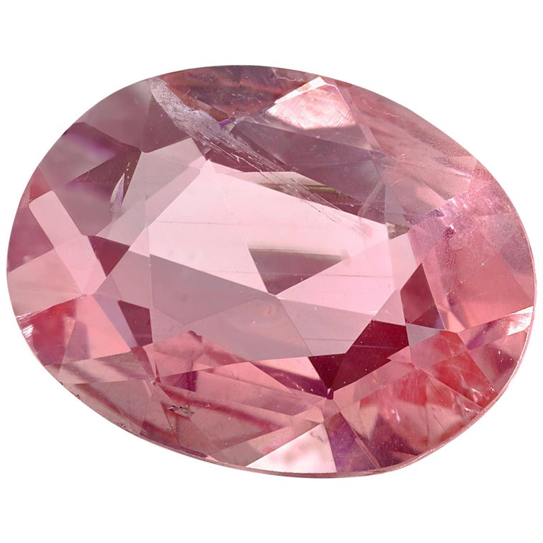 2.95 Carat Pink Sapphire Antique Oval Cut, GIA Certificate For Sale