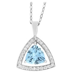 2.95 Carat Trillion Cut Aquamarine Pendant
