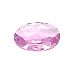 2.95 Ct. Pink Sapphire Oval GIA, Unset 3-Stone Engagement Ring or Pendant Gem