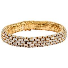 29.75 Carat Diamonds & 18K Gold Carlo Illario e Fratelli Vintage 1980s Bracelet