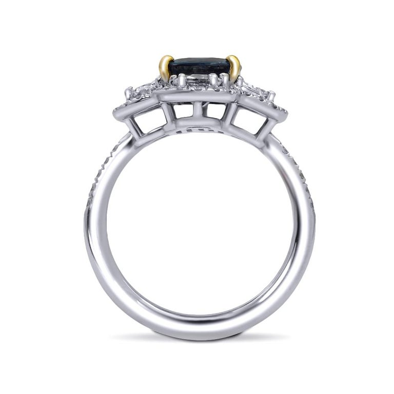 Contemporary Mark Henry 2.99 Carat Natural Brazilian Alexandrite and Diamond Ring, 18 Karat For Sale