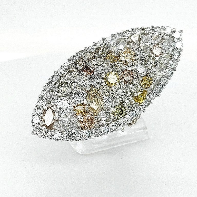 29.99 Carat Diamond, 18 Karat White Gold, Earrings, Cocktail Ring, Set For Sale 4