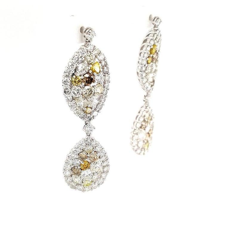 29.99 Carat Diamond, 18 Karat White Gold, Earrings, Cocktail Ring, Set For Sale 6