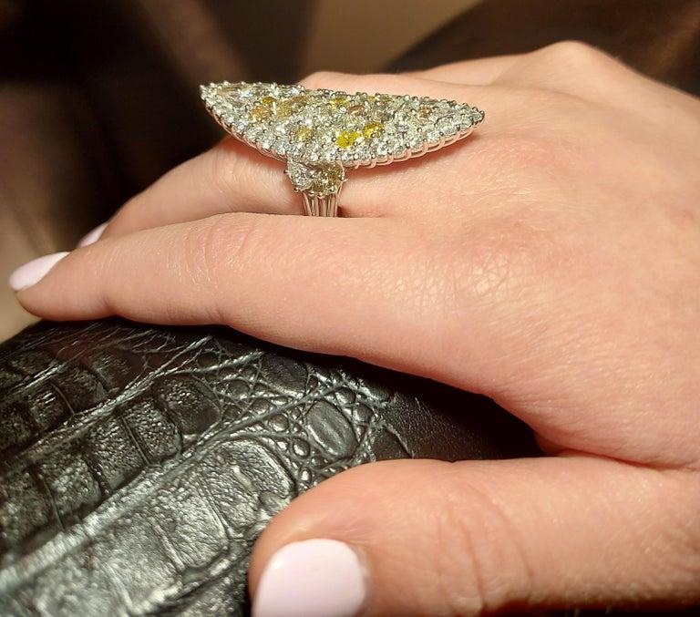 29.99 Carat Diamond, 18 Karat White Gold, Earrings, Cocktail Ring, Set For Sale 11