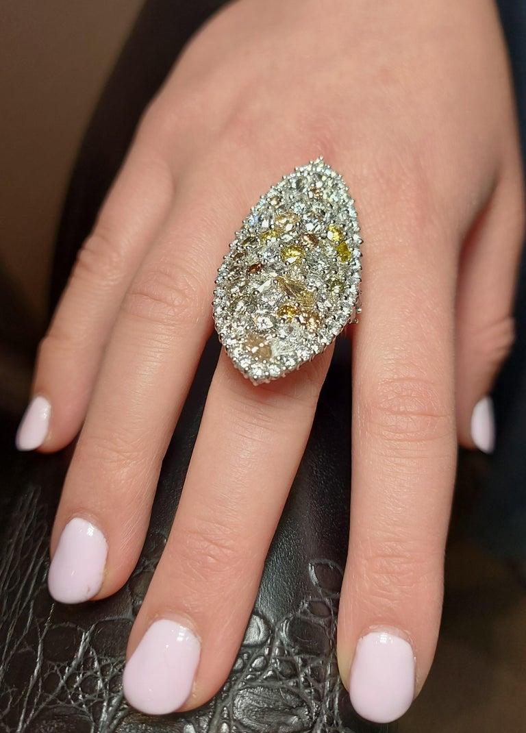29.99 Carat Diamond, 18 Karat White Gold, Earrings, Cocktail Ring, Set For Sale 12
