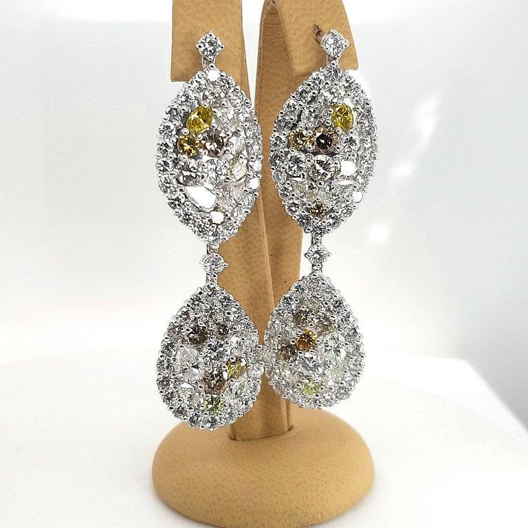 Marquise Cut 29.99 Carat Diamond, 18 Karat White Gold, Earrings, Cocktail Ring, Set For Sale